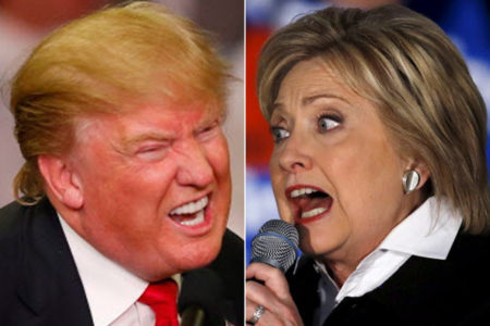 2016 Presidential candidates, Donald Trump and Hillary Clinton