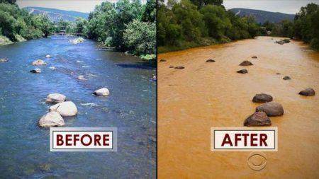 River in Colorado, before and after EPA intervention