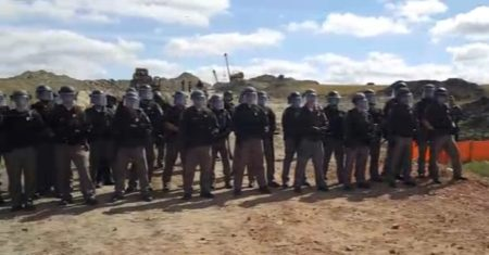 North Dakota Riot Police at NDAP