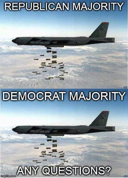 """""""Republican majority Democratic majority Any questions?"""""""