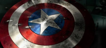 Captain America's signature adamantium shield