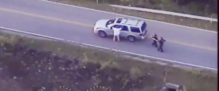 Terence Crutcher, being harassed by police moments before they tase, then shoot, him