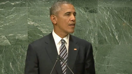Globalist puppet, Barack Obama, speaks before the United Nations