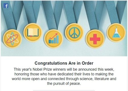 """Congratulations Are in Order This year's Nobel Prize winners will be announced this week, honoring those who have dedicated their lives to making the world more open and connected through science, literature and the pursuit of peace."""