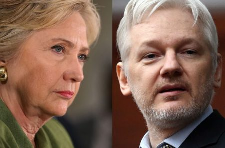 2016 Democratic Presidential Candidate, HIllary Clinton, and Wikileaks Founder, Julian Assange