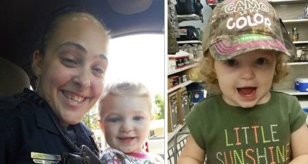 Long Beach police officer Cassie Barker and her now-deceased daughter, Cheyenne