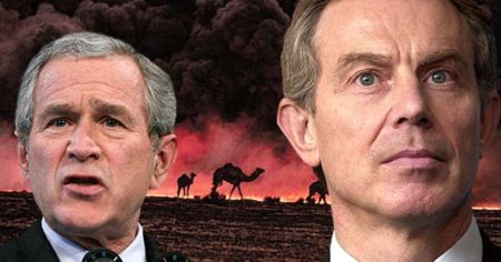 George W. Bush and Tony Blair engaged in an illegal war of aggression against Iraq