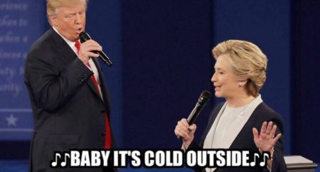 """♩♩...Baby, it's Cold Outside ♩♩"""