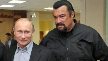 Russian President, Vladimir Putin, and American actor, Steven Seagal