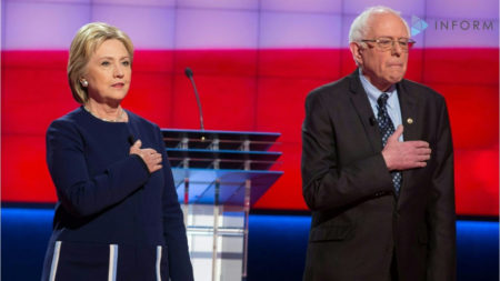 2016 Democratic Presidential Candidates, Hillary Clinton and Bernie Sanders