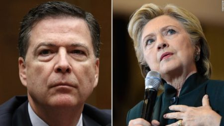 FBI Director James Comey and 2016 Presidential Candidate Hillary Clinton