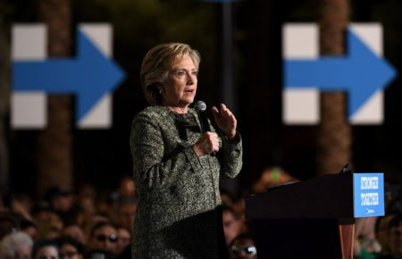 2016 Presidential Candidate, Hillary Clinton, on the campaign trail