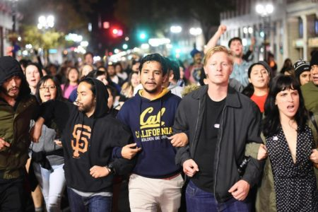 Oakland, California protest against Trump's Presidential election victory