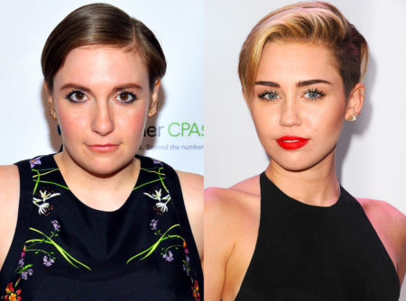 Hillary-supporting Actresses, Lena Dunham and Miley Cyrus, have some packing to do!